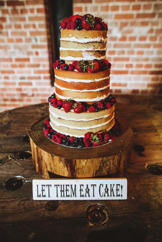 Dolce Lusso Cakes 3 tier naked wedding cake fresh berries let them eat cake