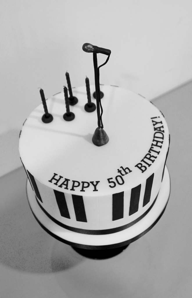 Dolce Lusso Cakes 50 birthday piano celebration cake